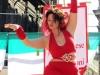 Египетский танец в исполнении фигуристой девушки