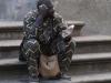 Африканец на лестницах церкви