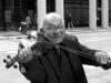 Скрипач на via roma в Турине