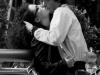 Страстный поцелуй на площади Сан Карло в Турине