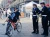 Полиция Турина и странный велосипедист
