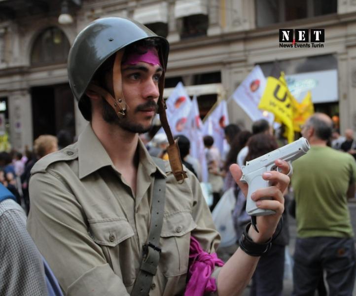 Alba Gay Pride Parade A Corpo Libero Stock Photo