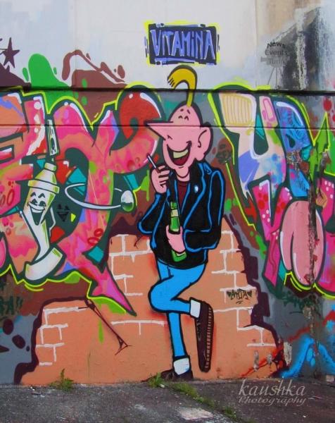 Graffiti Turin Italy Today