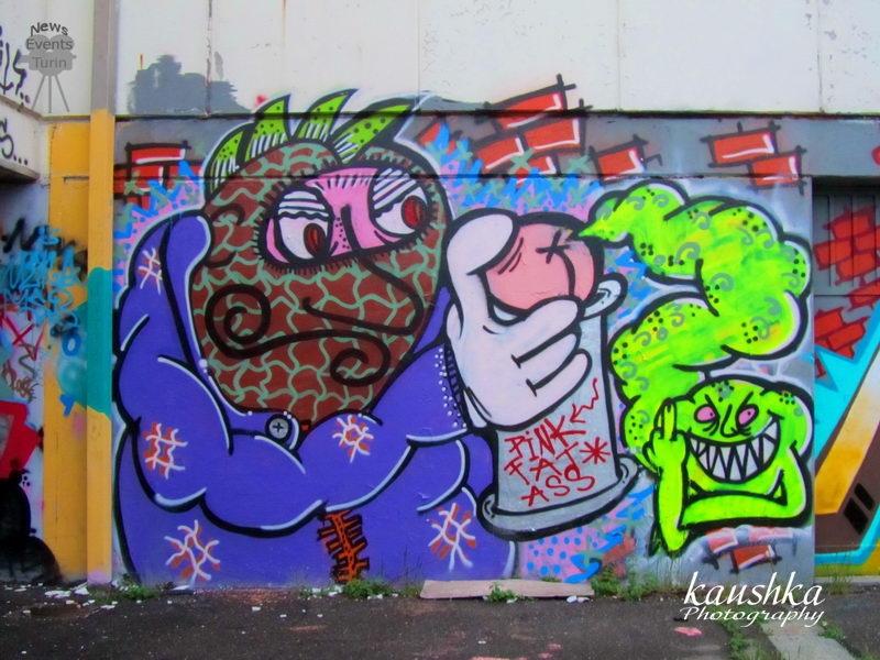 Граффити Италия Граффити в Турине
