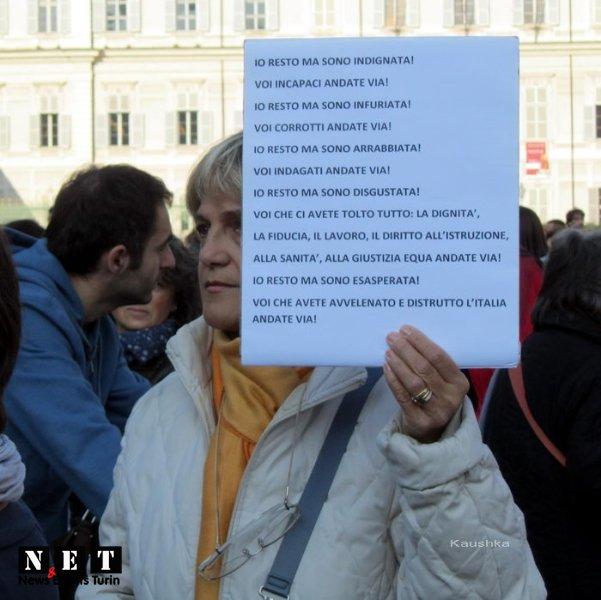 Протесты и забастовки итальянцев в Турине