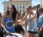 gavettoni in piazza Castello picnic