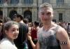 Mega lavata di fine anno alle fontane di Piazza Castello Torino