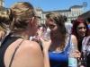 Torino, gavettoni in piazza Castello per la fine della scuola
