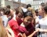 Массовое купание в фонтане студентки Турин