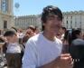 Выпускники купание в фонтане Турин