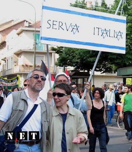 Манифестация палестинцев против действий Израиля в Турине.