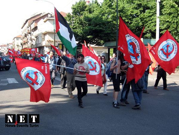 Манифестация палестинцев в Италии Турине
