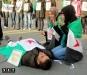 Манифестация сирийцев в Турине Италия