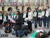 Flash-mob contro la guerra in Siria Pacifisti alla Mostra