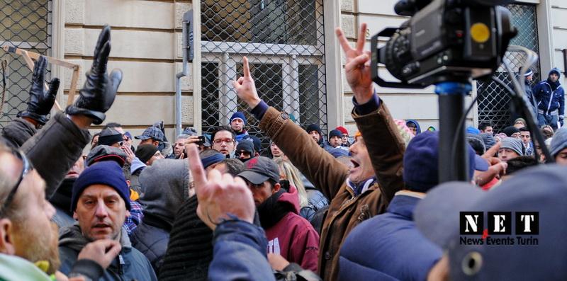 Забастовка и протест фермеров Италия Турин