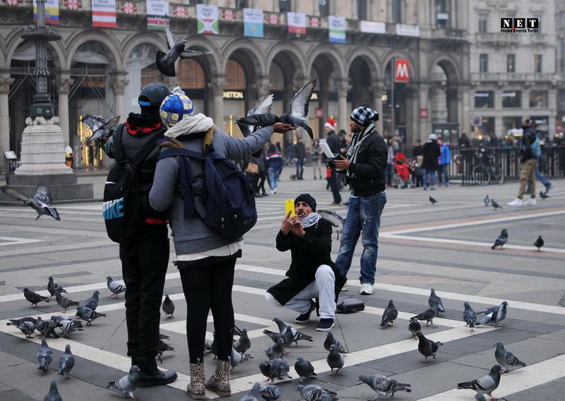 Милан уличная фотография Рождество 2014 Италия Sreet Photo Milano Natale 2014