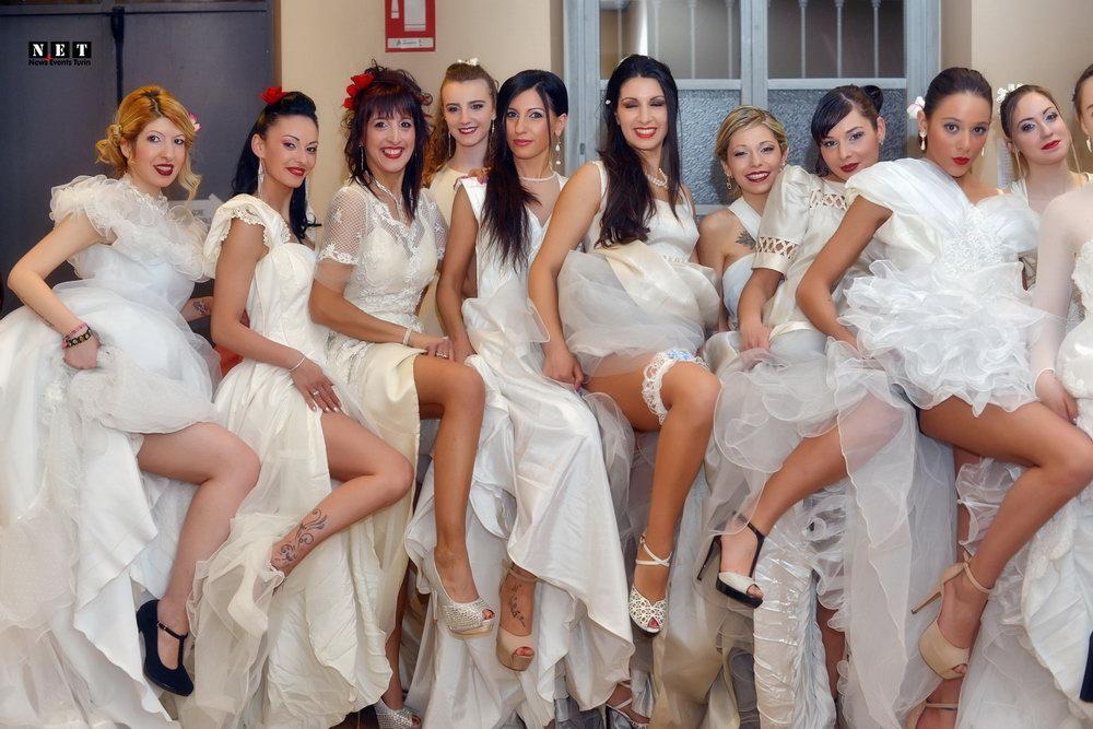 Свадебная одежда из Италии на конкурсе красоты футбольного клуба Торо