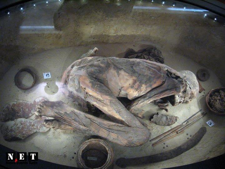 Достопримечательности Египетский Музей в Турине фото мумия