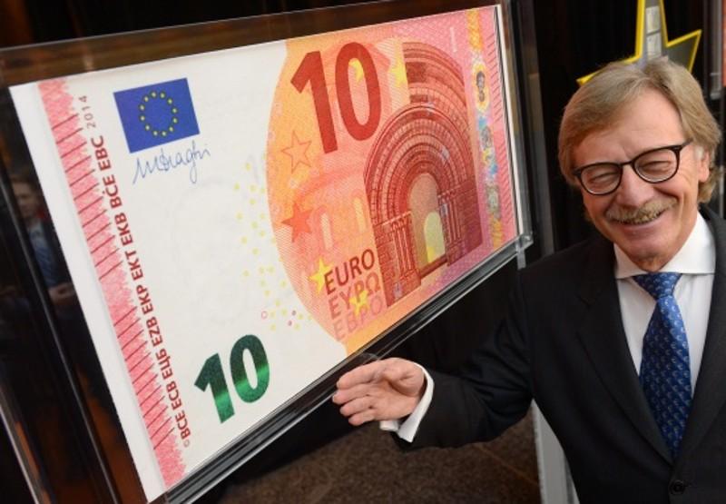 Новая купюра € 10 Новая европейская валюта банкнота фото