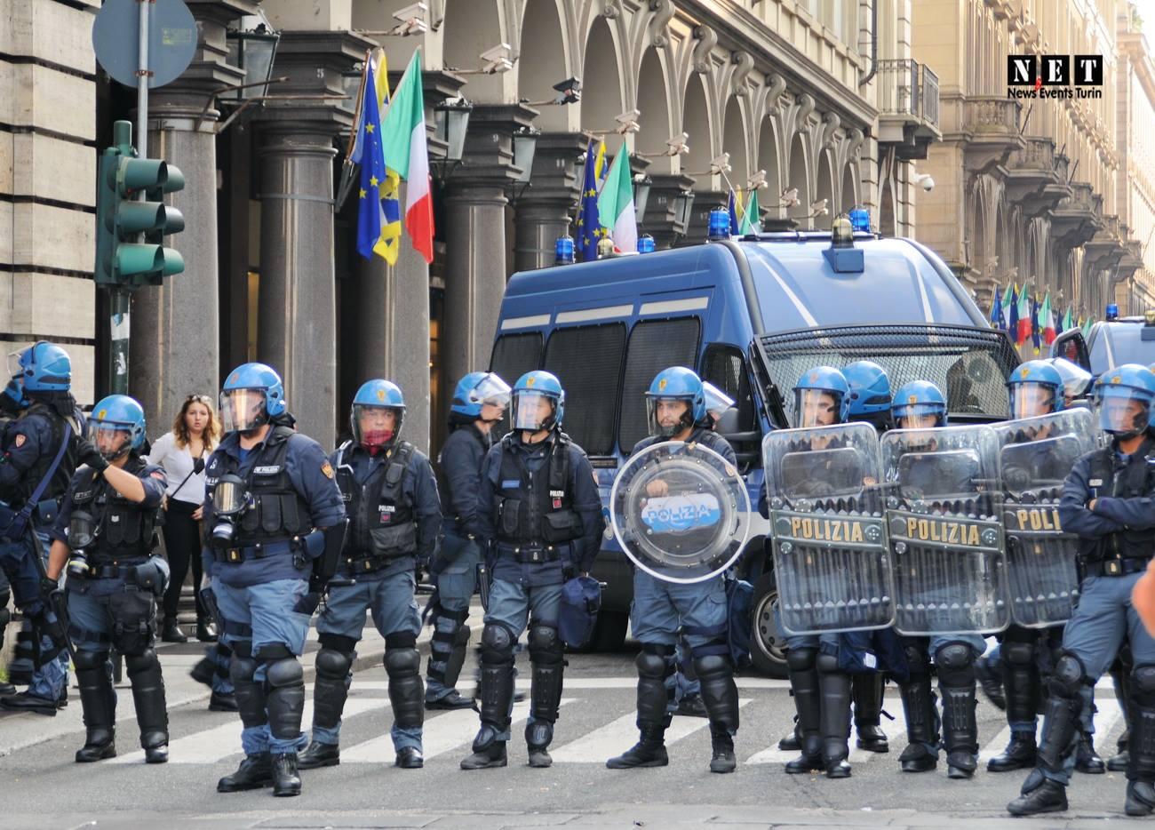 Европейский саммит Италия, столкновения с полицией в Турине.