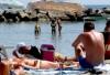 Итальянка без купальника на пляже