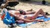 Отдыхающие на пляже Сан Ремо