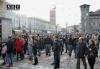 Уличная забастовка против закрытия дискотек в Турине