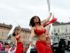 Le ragazze balano a centro Torino