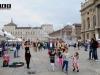 Bolle di sapone Torino piazza Castello