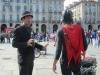 Уличные артисты Турина