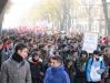 I violenti scontri tra polizia e studenti a Torino