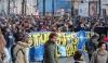 Torino, alla manifestazione degli studenti scontri con la polizia