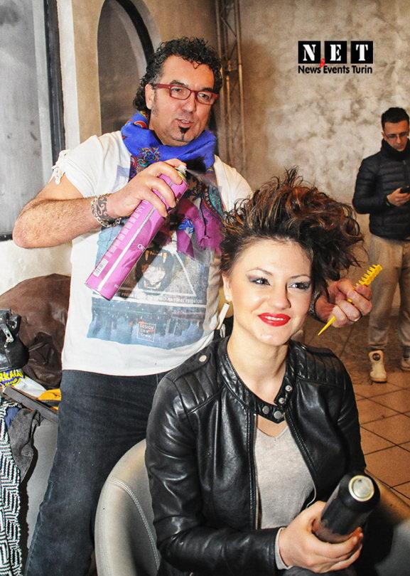 Backstage moda Italia Turin