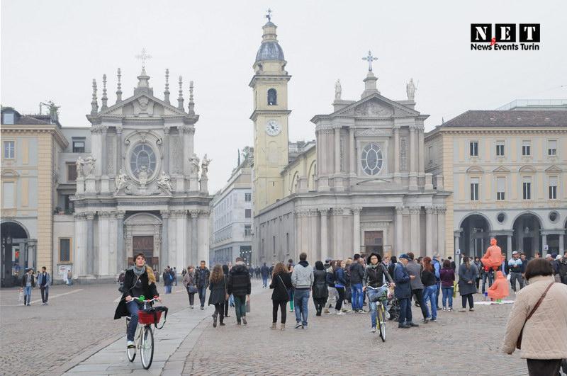 Архитектура в фотографии город Турин Италия