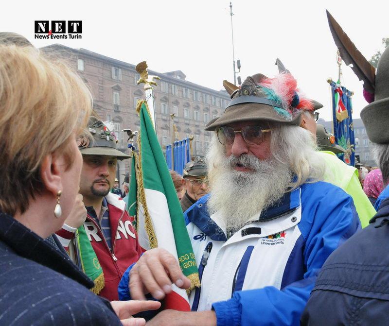 in piazza Castello a Torino Torino ottobre 2013