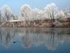 Италия зимой иней на деревьях