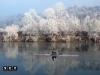 torino fiume po inverno nevica e brina