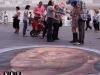torino piazza castello pittura sul asfalto