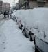 Автомобили под снегом Турин