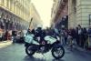 moto polizia Torino raduno auto d epoca via roma