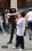 bambino zombie in parata