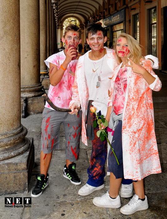 Zombie pride Turin Italy