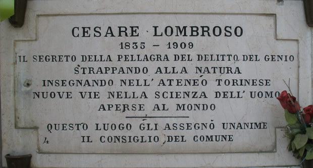 Могильная плита Чезаре Ломброзо на кладбище в Турине