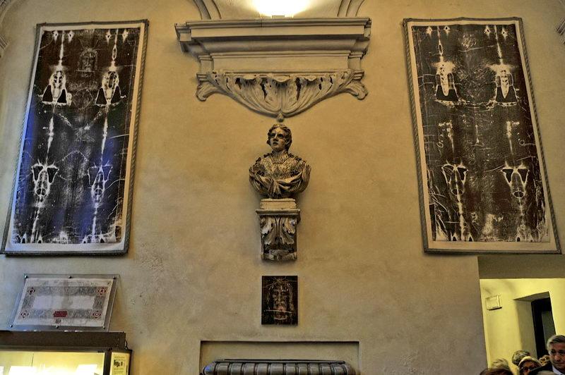 Плащаница экспозиция в церкви Святого Лаврентия