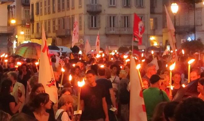 Манифестации и протесты забастовки Турин Италия