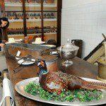 Королевский дворец в Турине Царь Турина кушает фазана