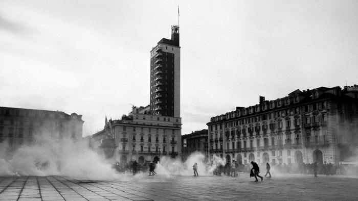 Здание фашисткой партии в Турине Панорама Турина