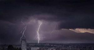 Турин под дождем. Смотрите видео дождь в Турине