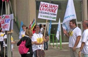 Забастовка банкиров в Турине. Испанский банк Santander Италия.