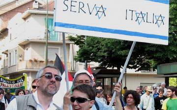 Манифестация палестинцев против Израиля в Турине Италия